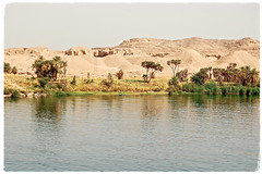 Magical Places and Things - Egypt- The Nile (The Spirit of the World ( On and Off)) Tags: egypt nile river thenile sand sanddunes trees palmtrees waterscape reflections nature middleeast africa arab landscape timeless