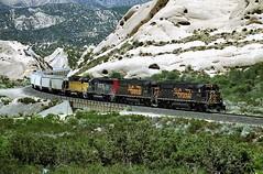 DRGW 5502 at Mormon Rocks on 12/04/00. (mmiikkyyhart55009) Tags: drgw5502 sd50 mormonrocks cajonpass california