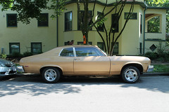 Everything Is Golden (Flint Foto Factory) Tags: chicago illinois urban city late spring early summer june 2018 edgewater andersonville berwyn lakewood intersection 1974 chevrolet chevy nova hatchback coupe gold cragars generalmotors gm rwd xbody compact