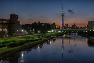 Tokyo Skytree at beautiful dusk