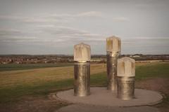 Drill Head Sculpture (oddbodd13) Tags: weetslade sculpture publicart drill drillhead countrypark dusk vignette