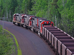 Four Pack Northbound (Missabe Road) Tags: cn dmir 400 404 408 ble 903 nugget ironrangedivision