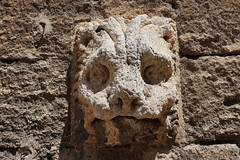 Almeria Cathedral, Spain (mattk1979) Tags: almeria sun outdoors city buildings spain europe sky clouds cathedral stone detail head carving