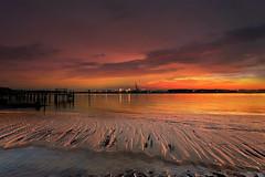 Caldo riposo serale (Zz manipulation) Tags: art ambrosioni zzmanipulation giallo oro rosso tramonto porto luci sera mare spiaggia sabbia cielo marina