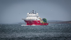 Global Symphony (MBDGE Over 1.2Million Views) Tags: orkney ship boat cable wind sea canon