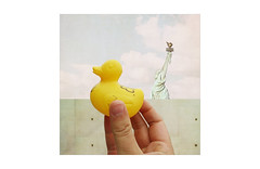 (WOGO*) Tags: digital collage donald duck statue liberty trump