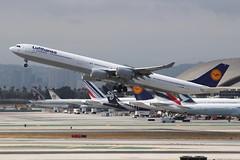Lufthansa (So Cal Metro) Tags: lufthansacairbus a340 a346 daihk airline airliner airplane aircraft aviation airport plane jet lax losangeles la