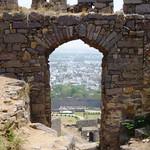 Blick von der Festung Golkonda, Hyderabad (Indien)