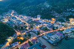 Home Time (Jokoleo) Tags: jayapura papua indonesia view hill bay sea life citylife culture city town high vilage outdoor aerial asia building activity color image drone horizontal regency night no people province photography street light