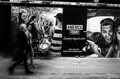 Moving To America Today! BW version