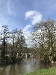 IMG_1085 (richardclarkephotos) Tags: water river bridge tree trees mill hydro electric pill box boxes defence weir geese wooden sky somerset near bath uk © richard clarke photos taken iphone stills video