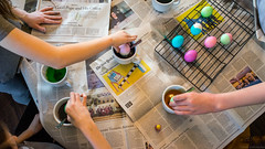 Dunk (Fret Spider) Tags: egg easter dunk color dye rabbit holiday family sonya7ii leicasummilux35mmf14fle manuallens visit arm fun