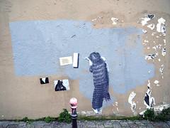 Pasted paper by Murmure [Paris 20e] (biphop) Tags: europe france paris streetart wall mur murmure pasted paper pasteup collage wheatpaste wheatpaper