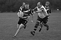 Just out of reach. (Steve.T.) Tags: rugby rugbyunion tackle tackling withamrugbyclub chase chasing nikon d7200 sigma150600 bancroftrugbyclub players player nosockson barelegs running sprinting sport playingsport rugbyplayer blackandwhite bnw blackandwhitephotography