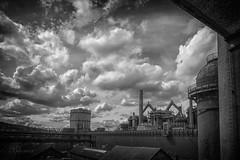Völklingen (boomer_phil) Tags: nuages usine cheminées bw nb bn beautifulexpression flickrelite nikon d500 extérieur