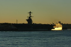 "MS Oosterdam & USS John C. Stennis (CVN-74) (Andrew ""MuseumAndy"" Boehly) Tags: sandiego usn unitedstatesnavy navy california pacificocean navalbasesandiego maritime boat ship sandiegobay northisland sandiegoharbor"