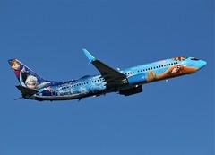 Here is WestJet Airlines C-GWSV (shumi2008) Tags: westjetairlines westjetb738 b737800 waltdisneyfrozen torontopearson pearsonairport yyz cyyz