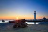 A lighthouse well protected! (karindebruin) Tags: nederland netherlands hellevoetsluis voorneputten vesting haringvliet water zonsondergang sunset longexposure langesluitertijden kanonnen guns lighthouse vuurturen