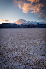 Playa in Shadow (joshvanderzanden) Tags: oregon pacificnorthwest alvorddesert steensmountain sunset playa crackedmud clouds