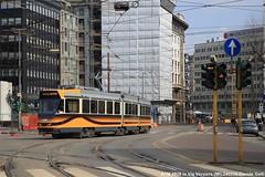 ATM 4928 (Davuz95) Tags: atm 4900 revamp tram milano serie nuova via mecenate 27 viale forlanini treno ferrovia cielo edificio strada
