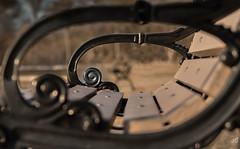 Black Golden Spirals (jgaosb) Tags: spiral park bench
