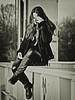 ......... sitting ........... (gabrieleskwar) Tags: outdoor schwarzweiss portrait brücke stahl frau licht schatten