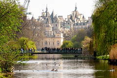Lake View (Geoff Henson) Tags: lake water sky bridge buildings birds trees reflection people tourists roofs spires towers 1000v40f