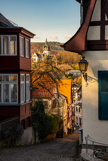 Königstein -  Blick zur Schneider Villa