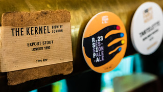 Up Close Beer Pump Label - The Kernel - Export Stout ( Craft Craft Beer Company (Holborn - London) (High ISO) (London) Panasonic LX100 (1 of 1)
