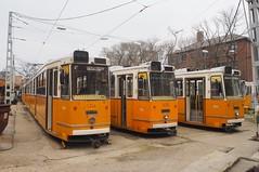 Kelenföld kocsiszín, Budapest. (Richard Woodhead) Tags: outdoors remise depot strassenbahn tramway kocsiszín kelenföld kelenföldkocsiszín villamos budapest bkv ganz trams tram