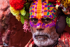 Portrait : Colourful Sadhu 3017-2 (Ursula in Aus (Resting - Away)) Tags: asia kathmandu nepal pashupatinath ggphotoworkshop
