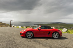 Mamore Red (syf22) Tags: car automobile auto autocar automotor motor motorcar motorised porsche porscheclubgb porscheboxster 981s boxster981s red guardsred softtop convertible sportscar germanmade madeingermany mamoregap wildatlanticway eire ireland scenic viewpoint drive route