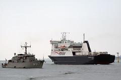 IMG_4100 (alanbryherhowell) Tags: belgian belgium mine sweeper triparite portsmouth naval sea boat vessel ship sky cabin water condore commodore clipper