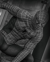 Spiderman (LeBlanc_Nigel) Tags: superhero spiderman marvel hero comic blackandwhite spider