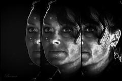 Caro (boomer_phil) Tags: femme nb bw beautifulexpression flickrelite nikon extérieur d850 fille triptyque regard yeux visage face eyes