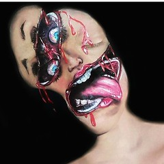 Amazing! By @sammylovesfossas (ineedhalloweenideas) Tags: halloween makeup make up ideas for 2017 happy night before christmas october 31 autumn fall spooky body paint art creepy scary horror pumpkin boo artist goth gothic amazing awesome