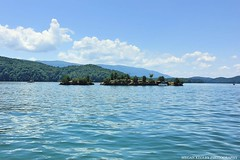 South Holston Lake (Railroad Gal) Tags: southholstonlake virginia tennessee bristol lake water trees mountains explore outdoors pontoon appalachianmountains boat landscape sky sunshine clouds rocks island