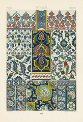 18th Century pattern from L'ornement Polychrome (1888) by Albert Racinet (1825–1893). Digitally enhanced from our own original 1888 edition.