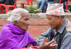 Nepalese old couple (SamKirk9) Tags: nepal kathmandu bhaktapur
