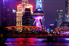 Pudong from Suzhou creek (Sophie et Fred) Tags: night nuit shanghai china cityscape ville pudong suzhou creek chine