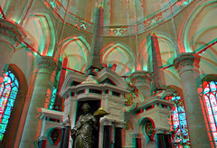 Nieuwe Kerk Delft 3D (wim hoppenbrouwers) Tags: nieuwekerk delft 3d anaglyph stereo redcyan