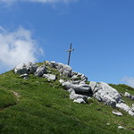 Cross @ Summit @ Roc des Tours @ Hike to Roc des Tours & Aiguille Verte @ Le Grand-Bornand thumbnail