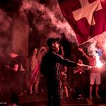 Mondial 2018 - Fête après la victoire de la Suisse sur la Serbie thumbnail