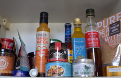What's in my kitchen cupboard? (Tony Worrall) Tags: add tag ©2018tonyworrall images photos photograff things uk england food foodie grub eat eaten taste tasty cook cooked iatethis foodporn foodpictures picturesoffood dish dishes menu plate plated made ingrediants nice flavour foodophile x yummy make tasted meal nutritional freshtaste foodstuff cuisine nourishment nutriments provisions ration refreshment store sustenance fare foodstuffs meals snacks bites chow cookery diet eatable fodder cupboard bottles label packet package jars glass stuff shelf bought sauce oil condiments