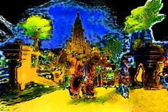 India - Bihar - Bodhgaya - Mahabodhy Temple - 113bd (asienman) Tags: india bihar bodhgaya asienmanphotography asienmanpaintography mahabodhytemple asienmanphotoart