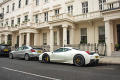 Belgravia Speciale. (TJHarrington) Tags: ferrari 458 speciale coupe belgravia bianco london londoncars supercarsoflondon car supercar white