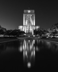 Houston City Hall_30x24 BW_2017 (Mabry Campbell) Tags: 2017 h5d50c hasselblad houston houstoncityhall october texas usa architecture artdeco attraction blackandwhite building cityhall downtown fineart government historic image monochrome photo photograph squarecrop f35 mabrycampbell march 2018 march302018 20180330untitledcampbellh6a3415 100mm ¹⁄₁₀₀₀sec 100 ef100mmf28lmacroisusm