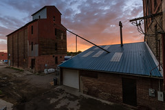 Early Morning at the Elevator - Pueblo, CO (Christopher J May) Tags: pueblo grainelevator colorado co sunrise goldenhour morning building architecture nikond600 sigma1224mmf4556ii