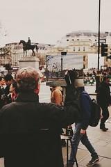 London Street Art (DaniellaSevern) Tags: london londonstreets streetart streetpainting streetphotography lifestylephotography peoplephotography sony sonya6000 sigma sigma30mm trafalgarsquare equestrianstatueofgeorgeiv statueofgeorgeiv georgeiv bokeh depthoffield art painting