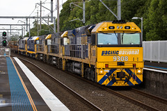 My Kingdom for Horsepower! (PJ Reading) Tags: rail railway train travel transport transportation freight goods cargo sydney railfreight diesel locomotive logistics rails pacificnational pn pacnat shunt lightengine loco 81 class 93class nrclass banksia steel porkkembla moorandoo newcastle brisbane